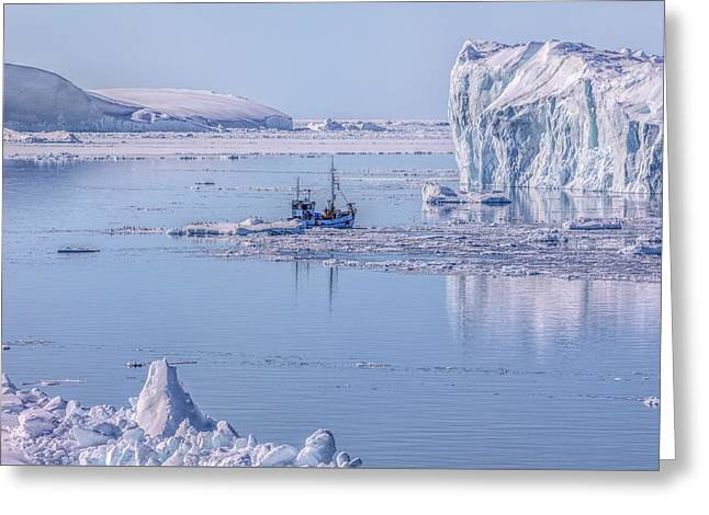 Icefjord In Greenland Greeting Card