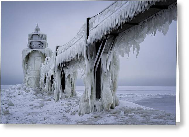 Icehouse Greeting Card by Ian Riddler