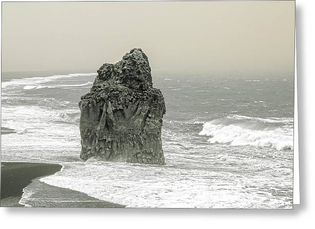 Iceland Dust Storm Dyholaey  Greeting Card