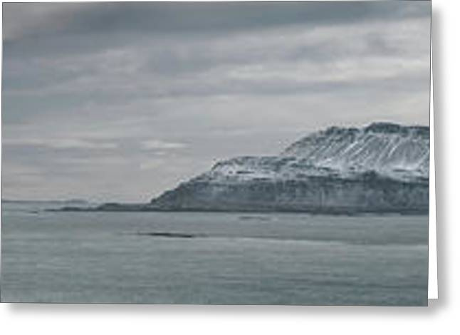 Iceland East Coast Panorama Greeting Card by Andy Astbury