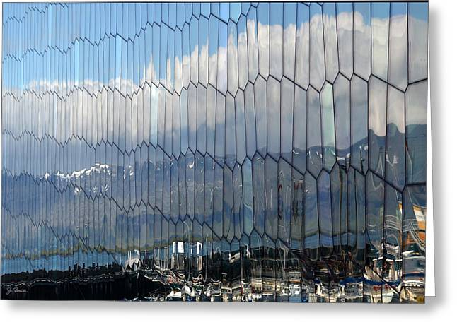 Greeting Card featuring the photograph Iceland Harbor And Mountains by Joe Bonita