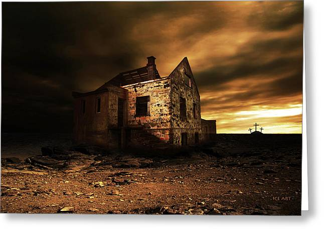 Iceland Old House Greeting Card by Kristinn Traustason