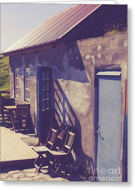 Greeting Card featuring the photograph Icelandic Cafe by Edward Fielding