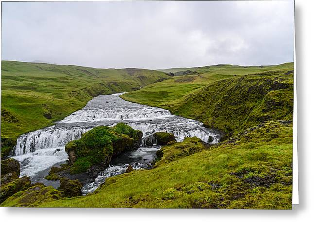 Icelandic Cascade Greeting Card