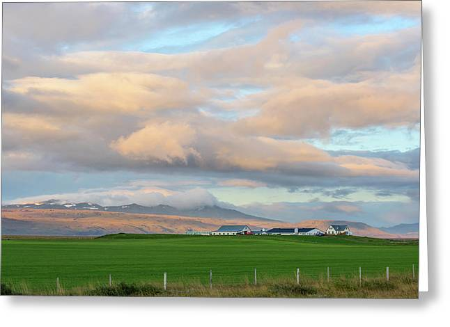 Greeting Card featuring the photograph Icelandic Farmhouse by Brad Scott