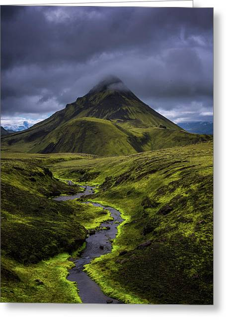 Icelandic Highlands Greeting Card by Tor-Ivar Naess