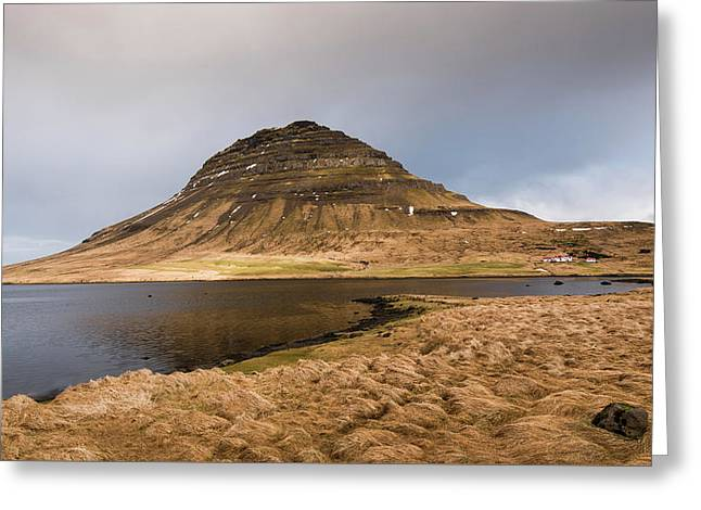 Icelandic Landscape With Kirkjufell Mountain, Iceland Greeting Card