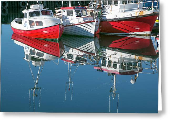 Greeting Card featuring the photograph Icelandic Marina by Elvira Butler