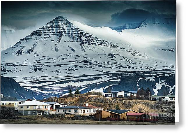 Icelandic Village Greeting Card by Svetlana Sewell