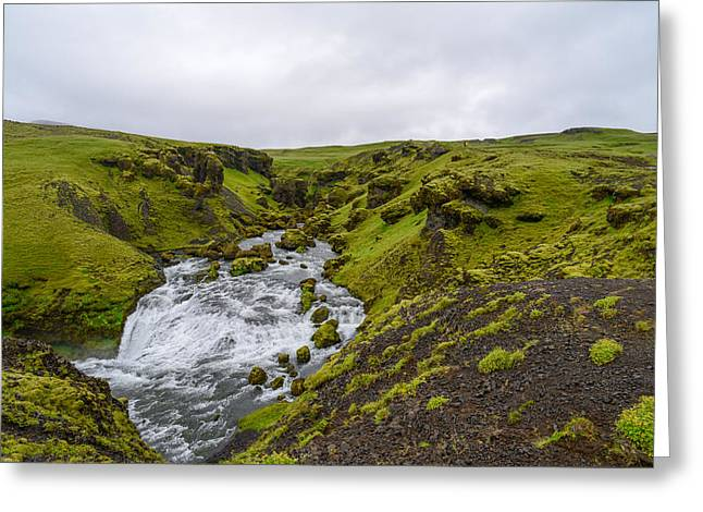 Icelandic Waterfall Greeting Card