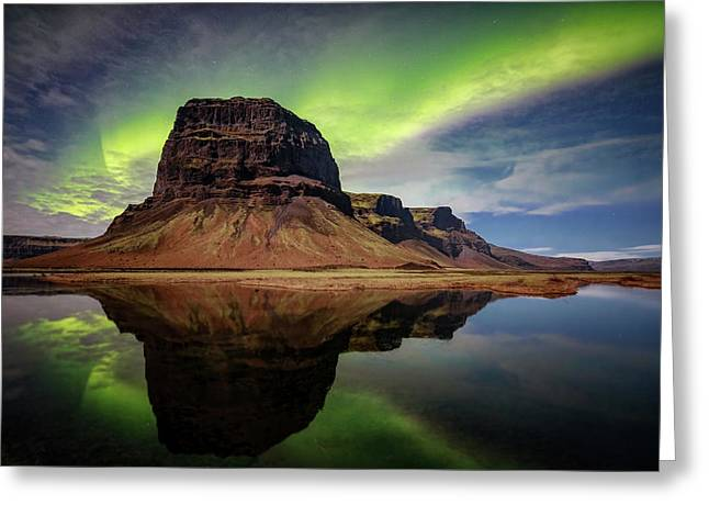 Icelanding Aurora Greeting Card