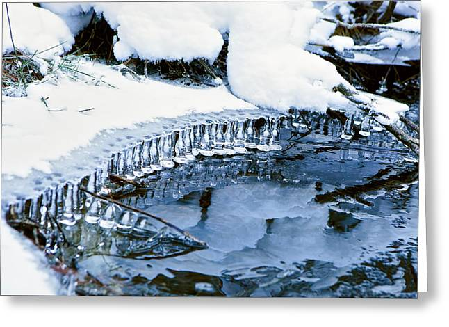 Icicle Bells Greeting Card