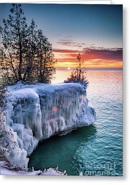 Greeting Card featuring the photograph Icicle Cliffs by Mark David Zahn Photography
