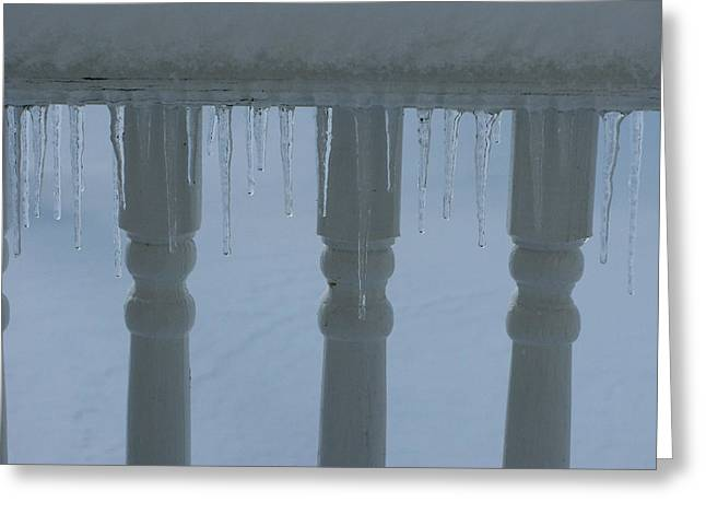 Icicles Greeting Card by Martie DAndrea