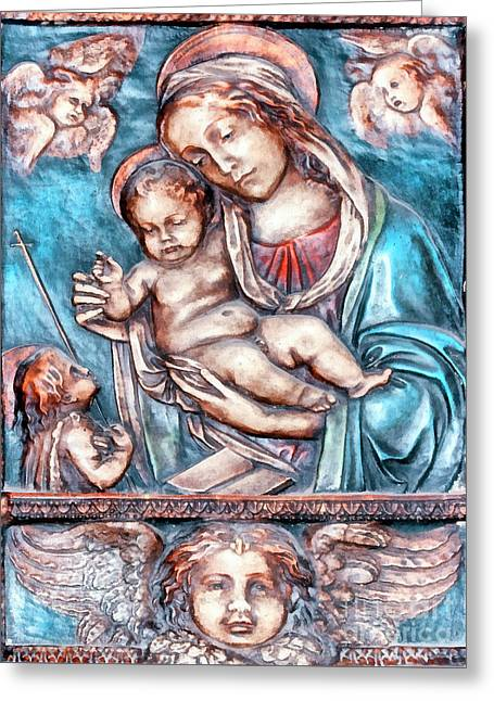 Icon Of Madonna Mother Of God  Greeting Card