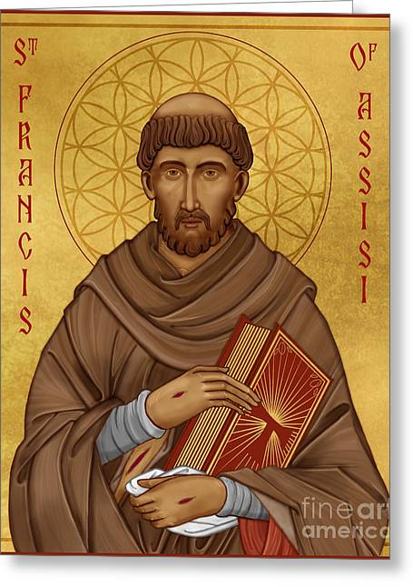 Icon Of Saint Francis Of Assisi Greeting Card