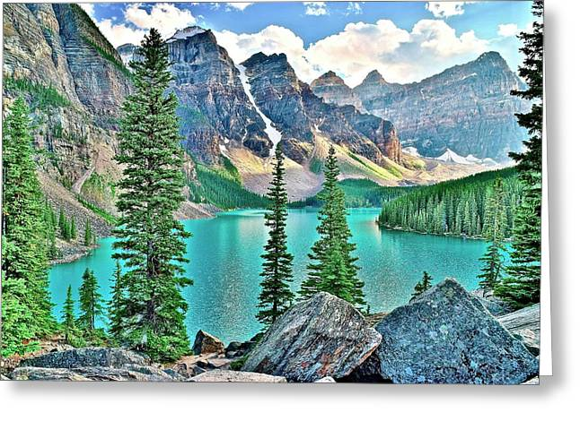Iconic Banff National Park Attraction Greeting Card
