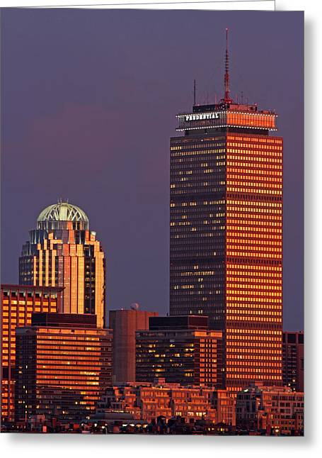 Greeting Card featuring the photograph Iconic Boston by Juergen Roth