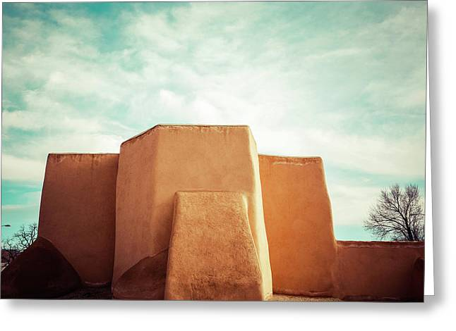 Greeting Card featuring the photograph Iconic Church In Taos by Marilyn Hunt