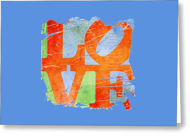 Iconic Love - Grunge Greeting Card