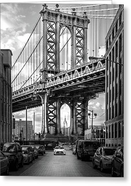 Iconic Manhattan Bw Greeting Card by Az Jackson