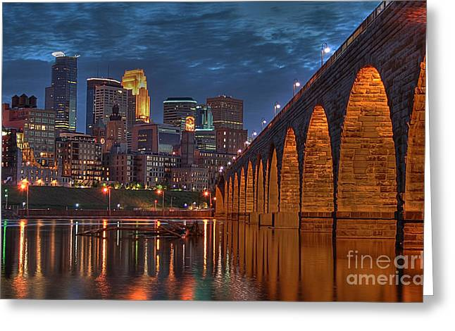 Iconic Minneapolis Stone Arch Bridge Greeting Card