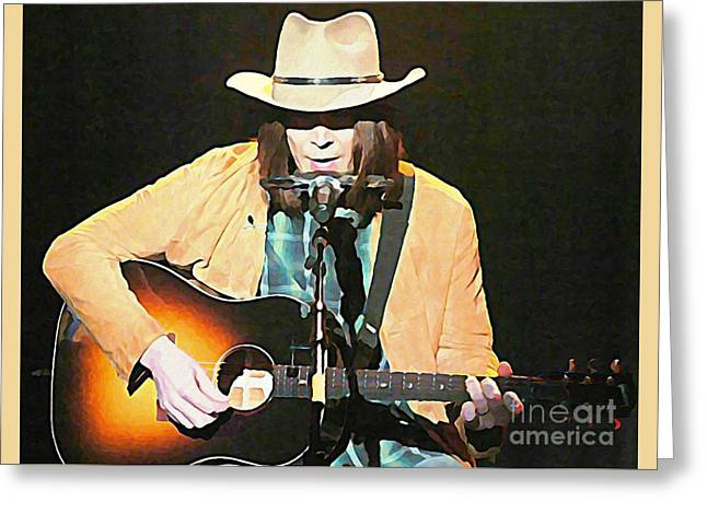 Iconic Neil Young Greeting Card by John Malone