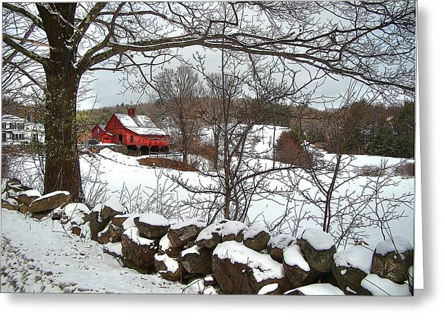 Iconic New Hampshire Greeting Card by Betsy Zimmerli