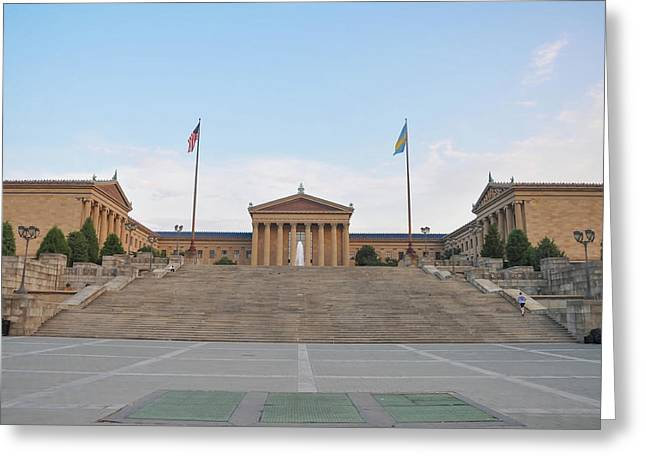 Iconic Philadelphia Art Museum Greeting Card by Bill Cannon