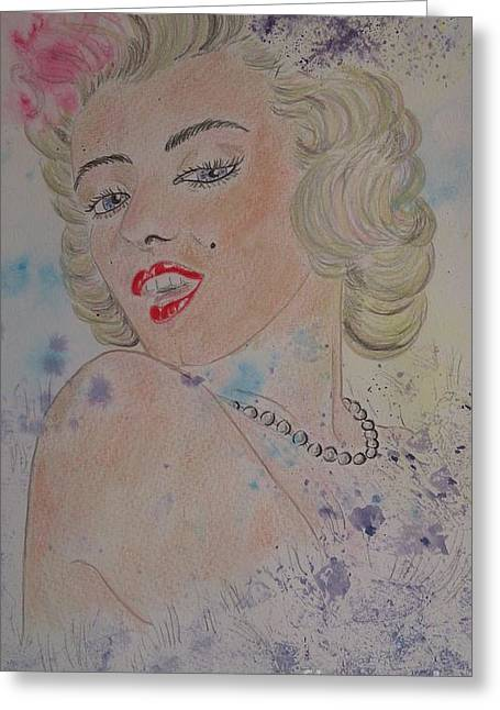 Iconic Women.marilyn Munroe Greeting Card