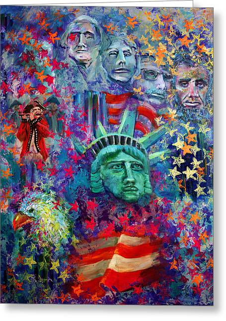Icons Of Freedom Greeting Card by Peter Bonk