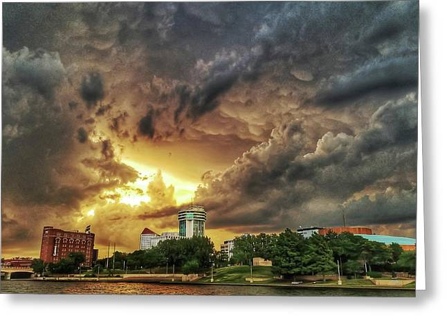 Ict Storm - From Smrt-phn L Greeting Card