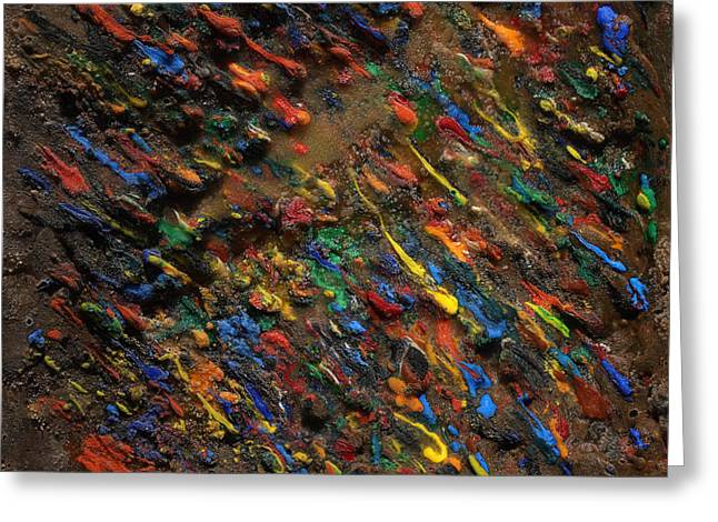 Greeting Card featuring the mixed media Icy Abstract 5 by Sami Tiainen