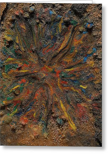 Greeting Card featuring the mixed media Icy Abstract 6 by Sami Tiainen