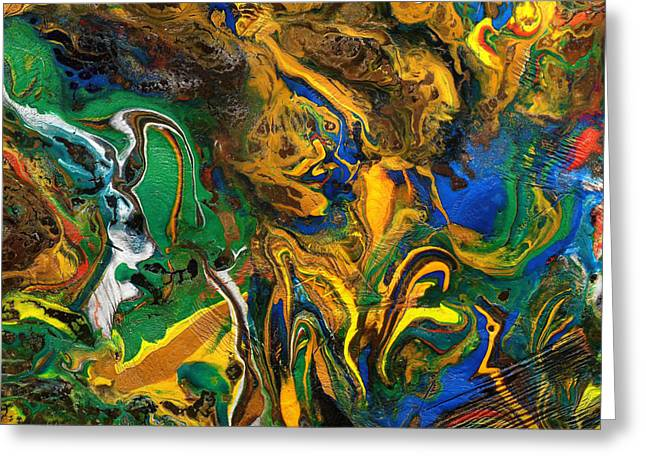 Greeting Card featuring the mixed media Icy Abstract 9 by Sami Tiainen