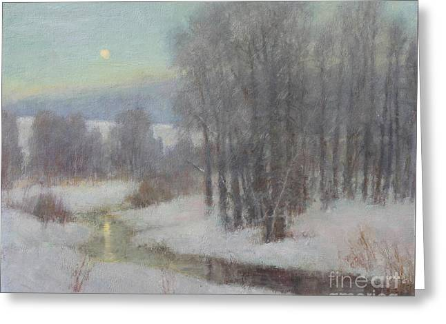 Icy Evening Greeting Card