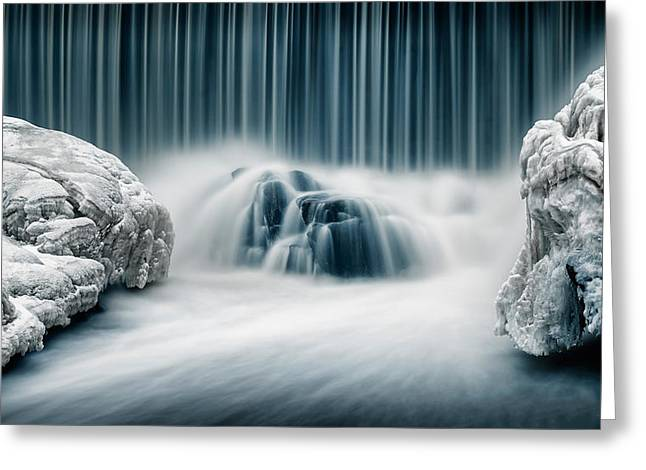 Icy Falls Greeting Card by Keijo Savolainen