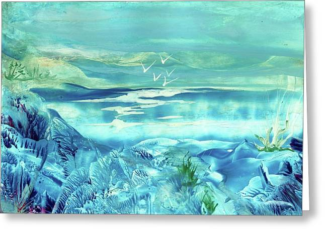 Icy Lake Greeting Card by Angelina Whittaker Cook