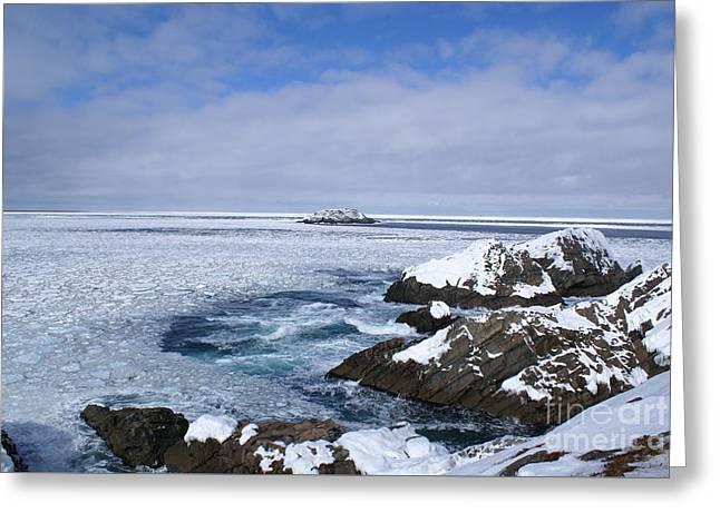 Icy Ocean Slush Greeting Card by Annlynn Ward