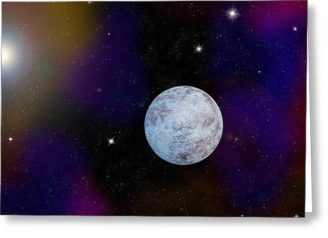 Icy Planet Greeting Card