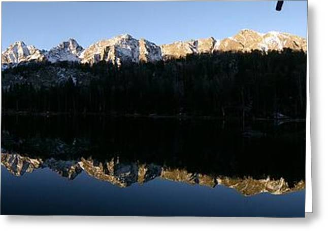 Icy Reflections - Panorama Greeting Card
