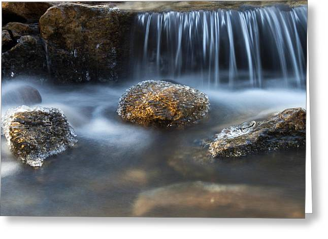 Icy Rocks On The Coxing Kill #1 Greeting Card by Jeff Severson
