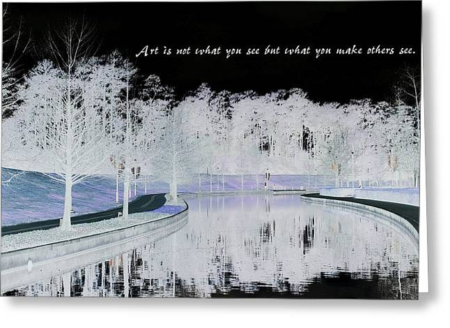 Greeting Card featuring the digital art Icy Waterway by Ellen Barron O'Reilly