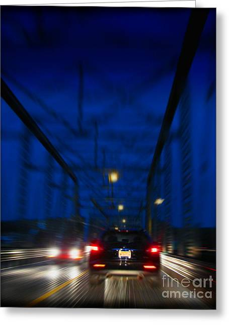 I'd Drive All Night Greeting Card by Colleen Kammerer