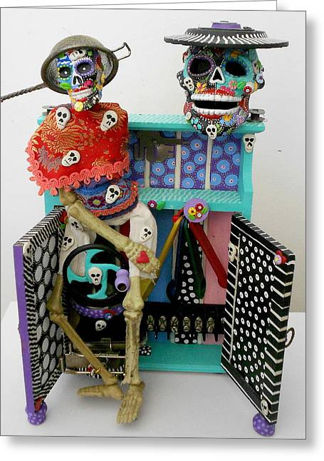 Whimsical. Sculptures Greeting Cards - Id Give My Right Arm For You Greeting Card by Keri Joy Colestock