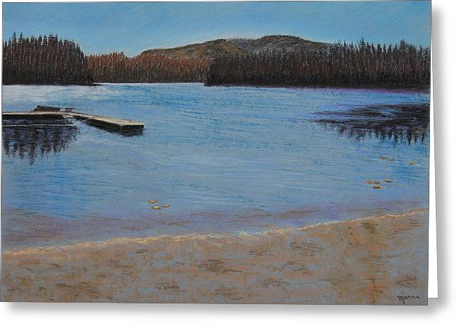 Idabel Lake Greeting Card by Marina Garrison