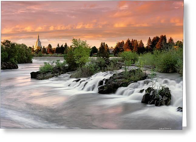 Idaho Falls Greeting Card by Leland D Howard