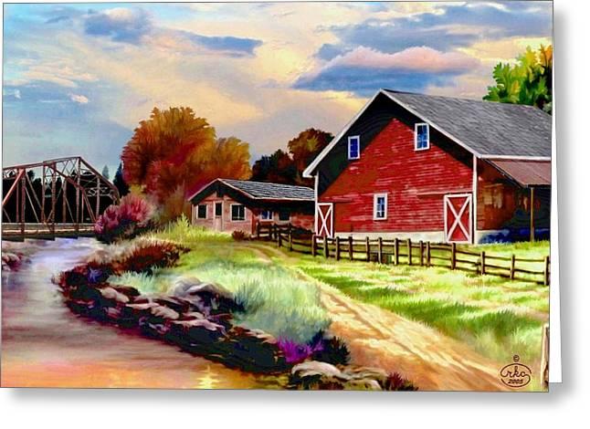 Idaho Homestead Greeting Card by Ron Chambers