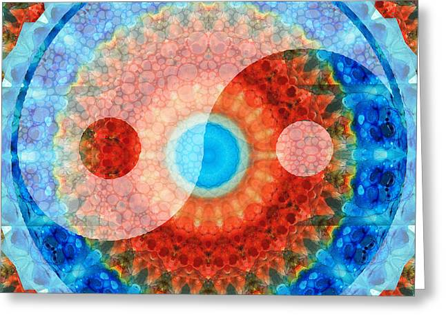 Ideal Balance Yin And Yang By Sharon Cummings Greeting Card