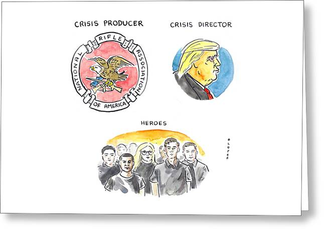 Identifying The Crisis Producer In Parkland Greeting Card